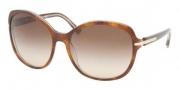 Prada PR 04NSA Sunglasses Sunglasses - BF46S1 Top Havana / Black Lace Brown Gradient