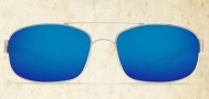 Costa Del Mar Manteo Sunglasses - Palladium Frame Sunglasses - Blue Mirror Glass / Costa 400