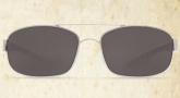Costa Del Mar Manteo Sunglasses - Palladium Frame Sunglasses - Gray Glass / Costa 400