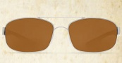 Costa Del Mar Manteo Sunglasses - Palladium Frame Sunglasses - Amber Glass / Costa 400