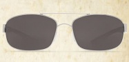 Costa Del Mar Manteo Sunglasses - Palladium Frame Sunglasses - Gray Poly. / Costa 580