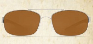 Costa Del Mar Manteo Sunglasses - Palladium Frame Sunglasses - Amber Poly / Costa 580