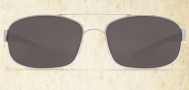 Costa Del Mar Manteo Sunglasses - Palladium Frame Sunglasses - Gray Glass / Costa 580