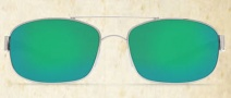 Costa Del Mar Manteo Sunglasses - Palladium Frame Sunglasses - Green Mirror Glass / Costa 580