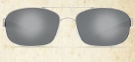 Costa Del Mar Manteo Sunglasses - Palladium Frame Sunglasses - Silver Mirror Glass / Costa 580
