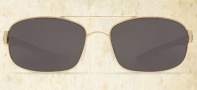 Costa Del Mar Manteo Sunglasses - Gold Frame Sunglasses - Gray Glass / Costa 580