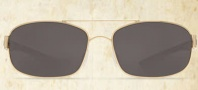 Costa Del Mar Manteo Sunglasses - Gold Frame Sunglasses - Gray Glass / Costa 400