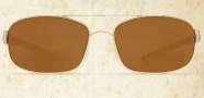 Costa Del Mar Manteo Sunglasses - Gold Frame Sunglasses - Amber Glass / Costa 400