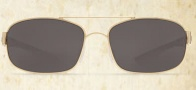 Costa Del Mar Manteo Sunglasses - Gold Frame Sunglasses - Gray Poly. / Costa 580