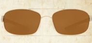 Costa Del Mar Manteo Sunglasses - Gold Frame Sunglasses - Amber Poly / Costa 580