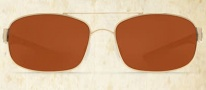 Costa Del Mar Manteo Sunglasses - Gold Frame Sunglasses - Copper Poly / Costa 580