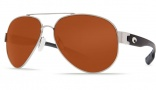 Costa Del Mar South Point Sunglasses - Palladium Frame Sunglasses - Copper Glass / Costa 580