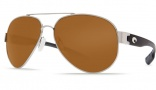 Costa Del Mar South Point Sunglasses - Palladium Frame Sunglasses - Amber Glass / Costa 400
