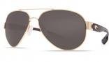 Costa Del Mar South Point Sunglasses - Gold Frame Sunglasses - Gray Glass / Costa 580