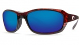 Costa Del Mar Tag Sunglasses - Tortoise Frame Sunglasses - Amber Poly. / Costa 580