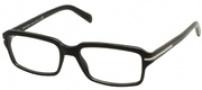 Prada PR 09NV Eyeglasses Eyeglasses - 1AB1O1 BLACK DEMO LENS
