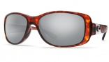 Costa Del Mar Tippet Sunglasses - Tortoise Frame Sunglasses - Blue Mirror Glass / Costa 580