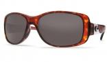 Costa Del Mar Tippet Sunglasses - Tortoise Frame Sunglasses - Green Mirror Glass / Costa 580