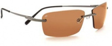 Serengeti Parma Sunglasses Sunglasses - 7445 Shiny Gunmetal / Polar PhD Drivers