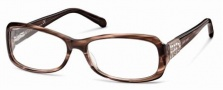 Roberto Cavalli RC0543 Eyeglasses Eyeglasses - 050 - Striped brown/rose- rose