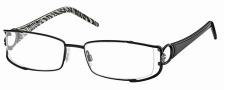 Roberto Cavalli RC0546 Eyeglasses Eyeglasses - 001 - Black- palladium, black/zebra temples