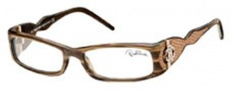 Roberto Cavalli RC0483 Eyeglasses Eyeglasses - 045 - Melange light brown- beige leather insert iguana effect, rose gold logo