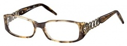 Roberto Cavalli RC0494 Eyeglasses Eyeglasses - 050 - Brown/melange yellow, antique gold (Discontinued Color NLA)