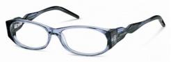 Roberto Cavalli RC0633 Eyeglasses Eyeglasses - 084 Aqua, Black Transparent
