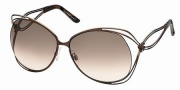 Roberto Cavalli RC527S Sunglasses Sunglasses - 48F - Brown, melange coffee brown temple tips, gradient brown lenses