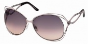Roberto Cavalli RC527S Sunglasses Sunglasses - 72Z - Rose, silver/violet zebra effect temple tips, gradient violet lenses