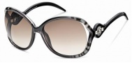 Roberto Cavalli RC575S Sunglasses Sunglasses - 05F Black, Brown, Transparent, gradient brown lenses