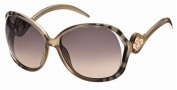 Roberto Cavalli RC575S Sunglasses Sunglasses - 33B Olive Brownish Transparent.  gradient brown, violet lenses