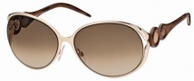 Roberto Cavalli RC588S Sunglasses Sunglasses - 28F Gold, Brown, Coffee, gradient brown lenses