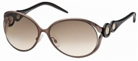 Roberto Cavalli RC588S Sunglasses Sunglasses - 50F Brown, havana, Coffee Gradient brown lenses