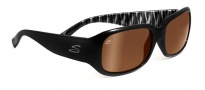 Serengeti Giuliana Sunglasses Sunglasses - 7708 Shiny Black Zebra / Drivers Gold Polarized