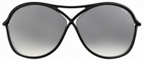 Tom Ford FT0184 Vicky Sunglasses Sunglasses - 01B Black/grey Shaded