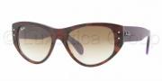 Ray-Ban RB4152 Sunglasses Vagabond Sunglasses - 106651 Top Violet Gradient / Havana Crystal / Brown Gradient