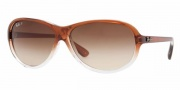 Ray-Ban RB4153 Sunglasses Sunglasses - 821/M2 PIPE BROWN-TRANSP.GRADIENT CRYSTAL POLAR BROWN GRADIENT