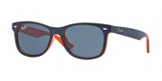 Ray Ban Junior 9052S New Wayfarer Sunglasses Sunglasses - 178/80 Top Blue on Orange / Blue