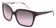 Dolce & Gabbana DG4077M Sunglasses Sunglasses - 179290 EXT Violet-INT / Flower Violet Gradient