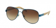 Tory Burch TY6010 Sunglasses Sunglasses - 308513 Navy/White Oak / Brown Gradient