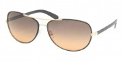 Tory Burch TY6013Q Sunglasses Sunglasses - 943/95 BLACK LEATHER GREY ORANGE FADE