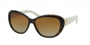 Tory Burch TY7005 Sunglasses Sunglasses - 1327T5 Dark Tortoise/Ivory / Brown Gradient Polarized