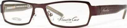 Kenneth Cole New York KC0129 Eyeglasses Eyeglasses - 081 Semi Shiny Eggplant/Demo Lens