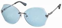 Swarovski SK0004 Sunglasses Sunglasses - 08V Silver/Azure Lens