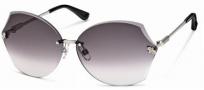 Swarovski SK0004 Sunglasses Sunglasses - 16B Silver/Smoke Lens