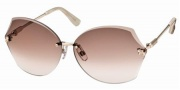 Swarovski SK0004 Sunglasses Sunglasses - 28F Gold/Antique Pink Lens