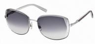 Swarovski SK0007 Sunglasses Sunglasses - 16B Silver/Smoke Lens