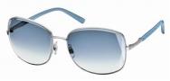 Swarovski SK0007 Sunglasses Sunglasses - 16W Silver/Azure Lens