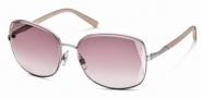 Swarovski SK0007 Sunglasses Sunglasses - 16Z Silver/Pink Lens